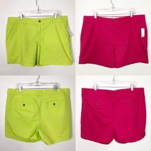 Bundle 🌸 2 pair of Old Navy Plus Size Neon Shorts